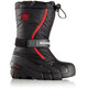 Sorel Flurr Boots Children Black/Bright Red
